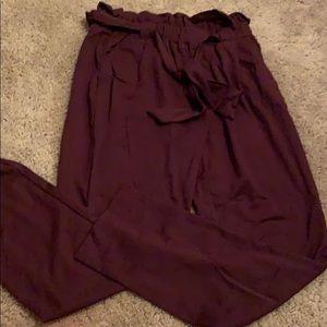 High-waist slim pants
